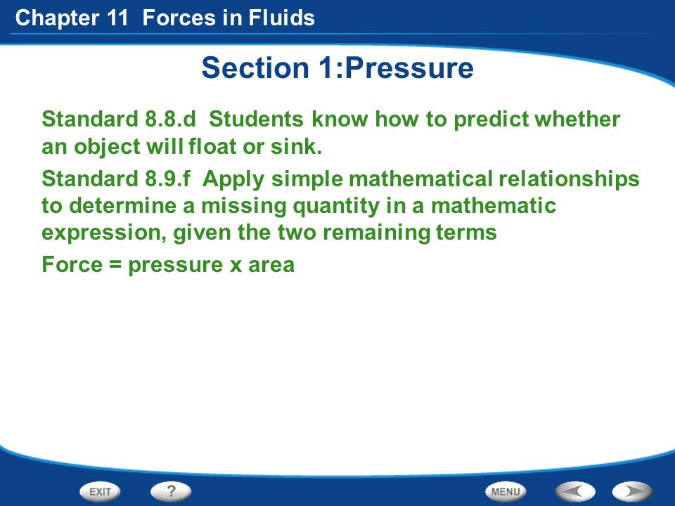 Section 1:Pressure