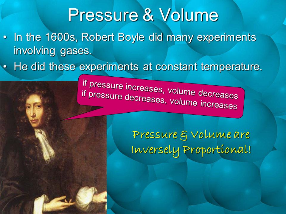 Pressure & Volume are Inversely Proportional!
