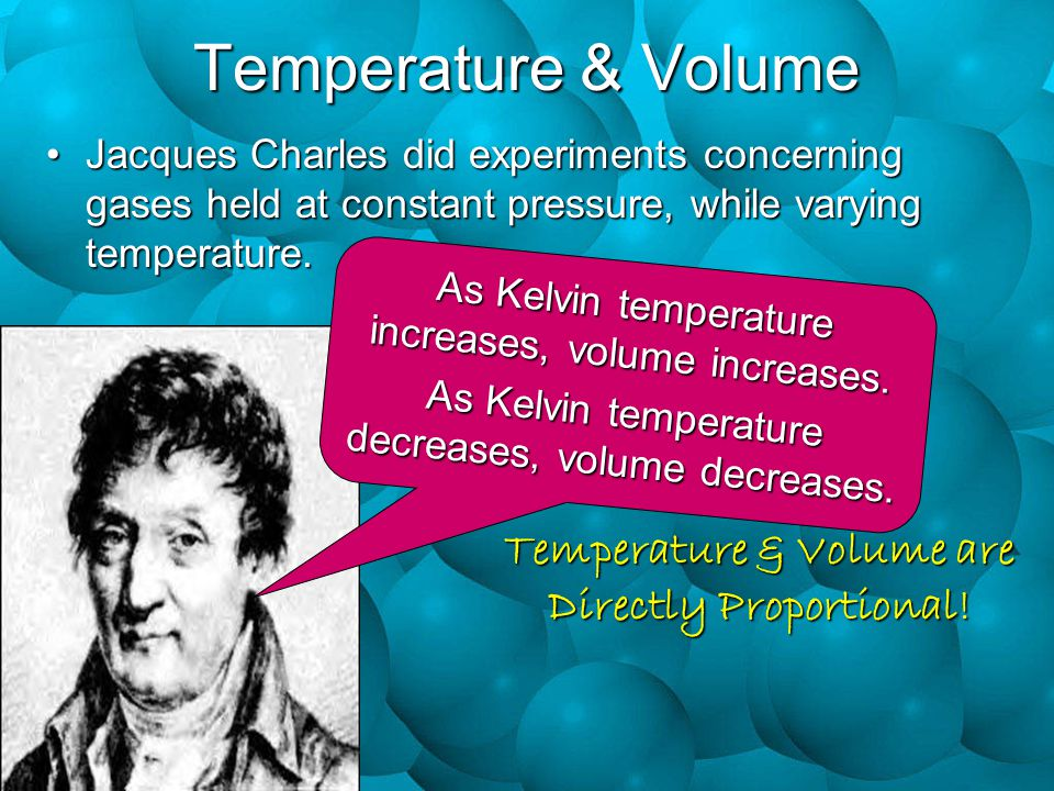 Temperature & Volume are Directly Proportional!