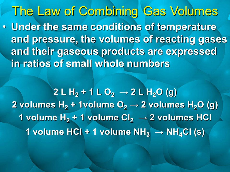The Law of Combining Gas Volumes
