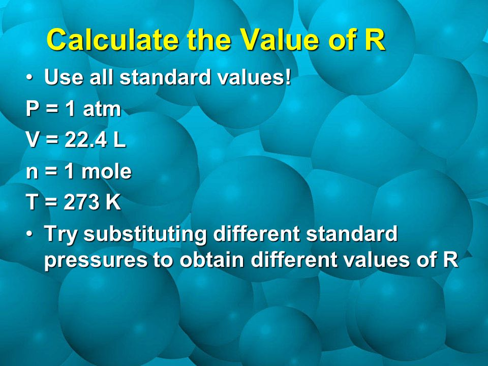 Calculate the Value of R