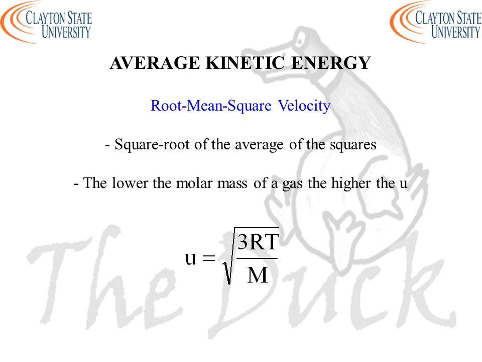 AVERAGE KINETIC ENERGY