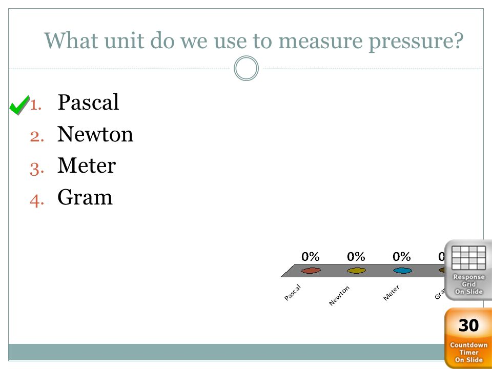 What unit do we use to measure pressure