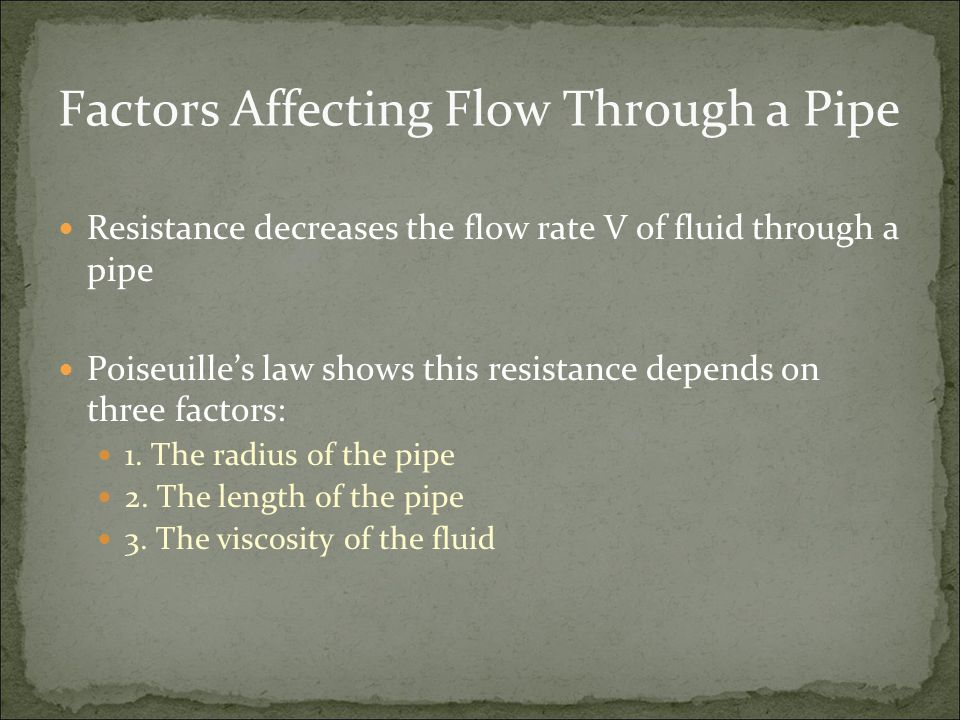 Factors Affecting Flow Through a Pipe