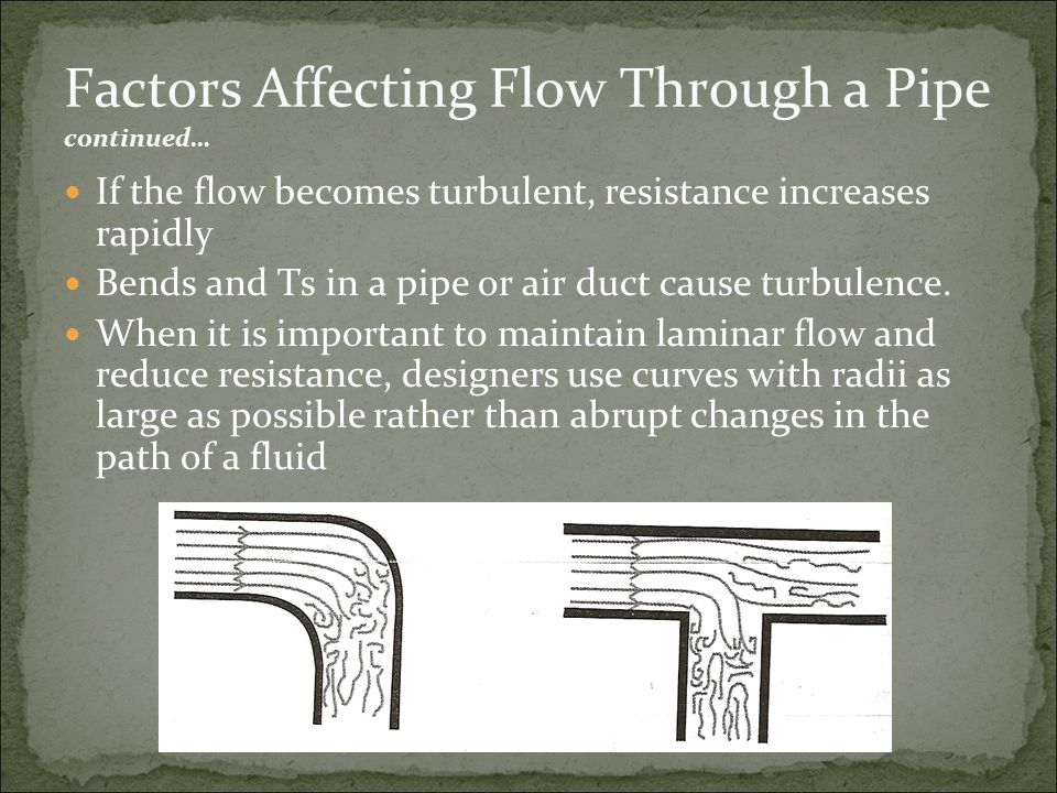 Factors Affecting Flow Through a Pipe continued…