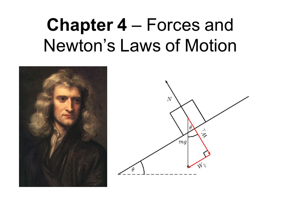 Chapter 4 – Forces and Newton's Laws of Motion