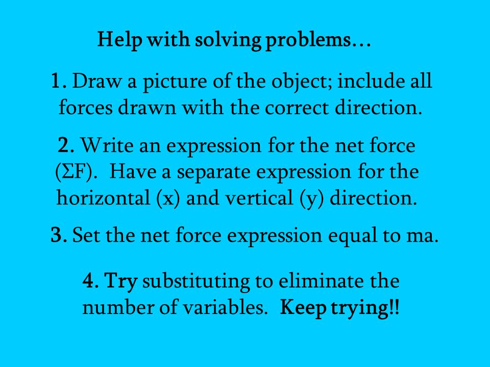Help with solving problems…