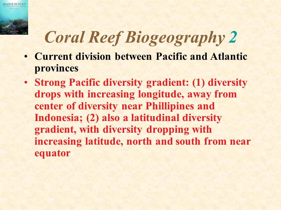 Coral Reef Biogeography 2