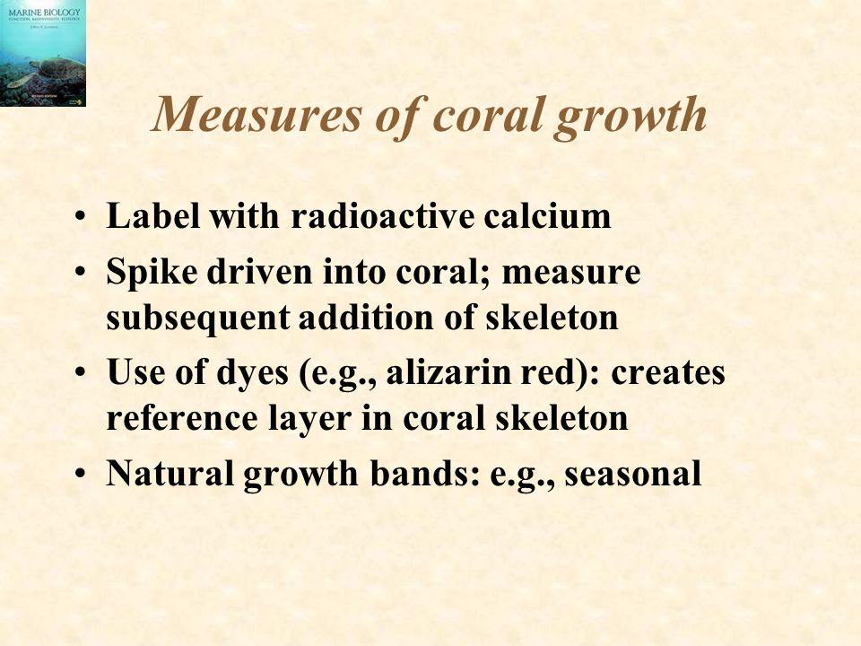 Measures of coral growth
