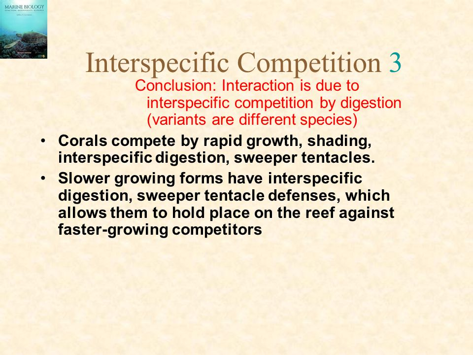Interspecific Competition 3