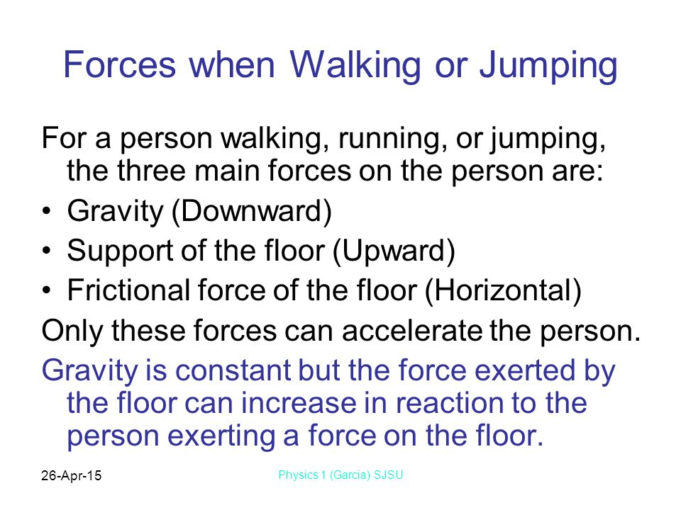 Forces when Walking or Jumping