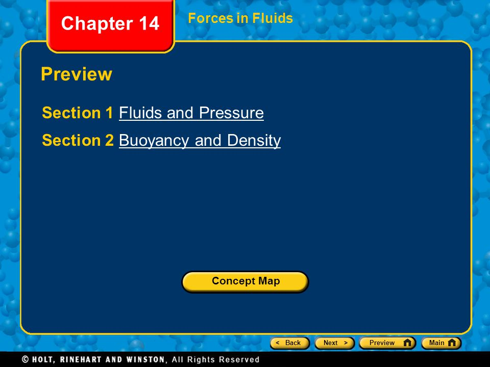 Chapter 14 Preview Section 1 Fluids and Pressure