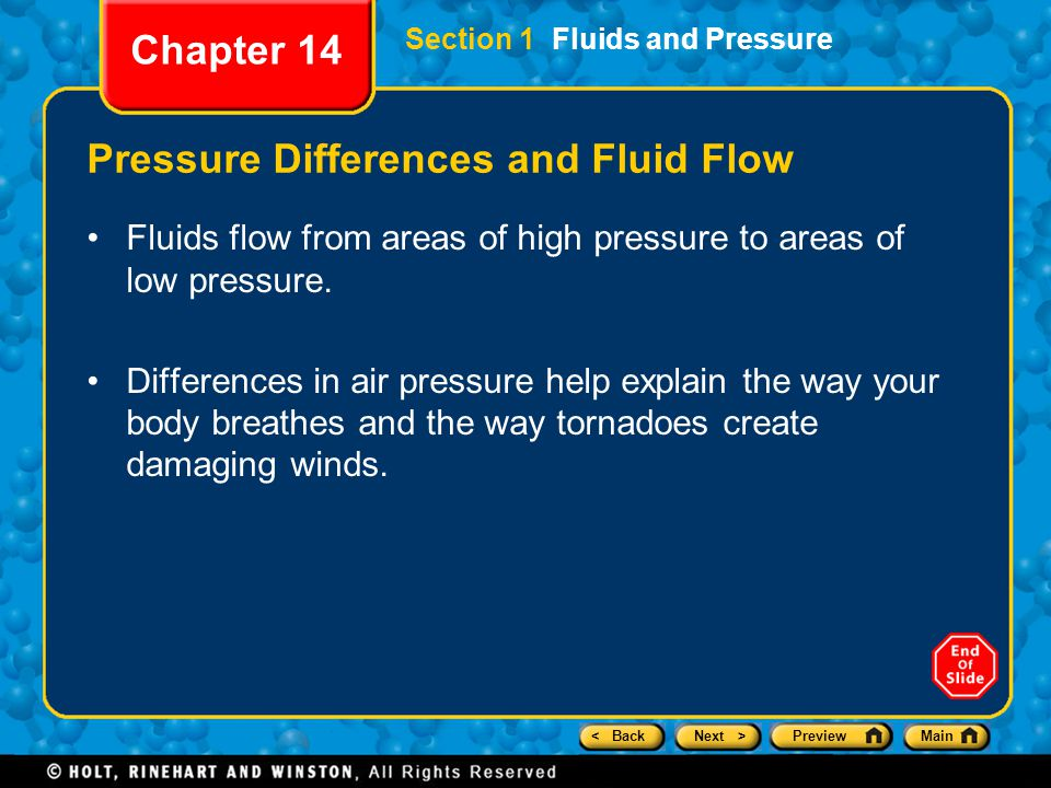 Pressure Differences and Fluid Flow