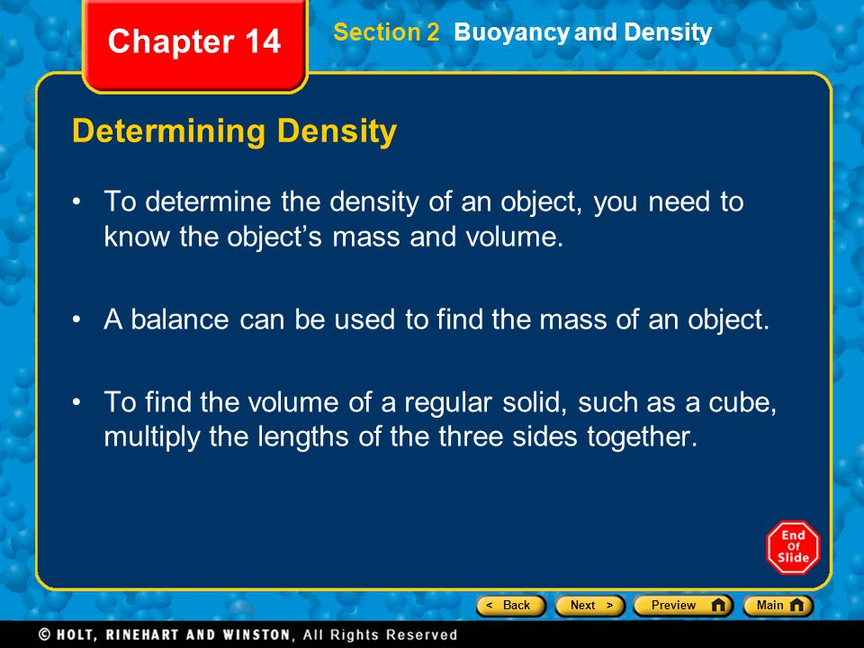 Chapter 14 Determining Density