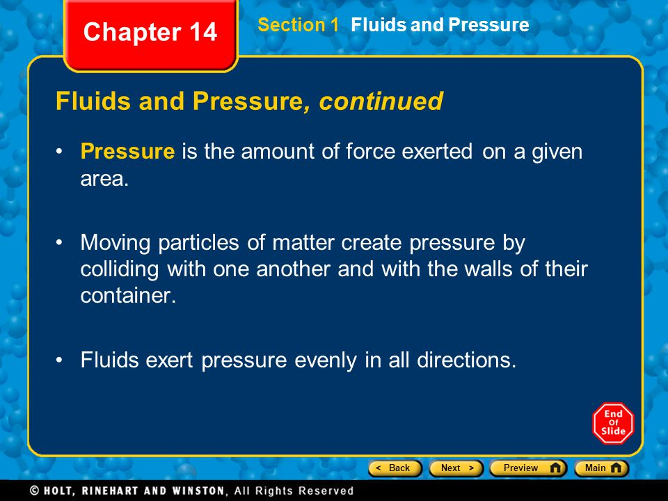 Fluids and Pressure, continued