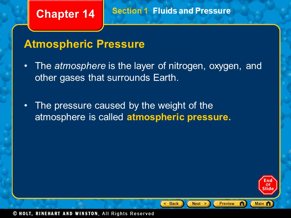 Chapter 14 Atmospheric Pressure