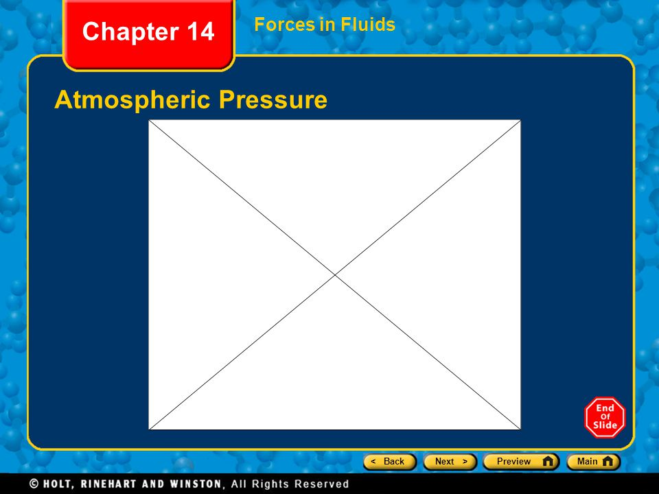 Chapter 14 Forces in Fluids Atmospheric Pressure