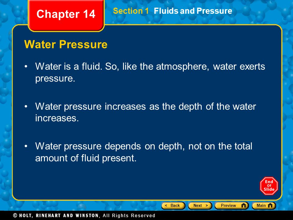 Chapter 14 Water Pressure