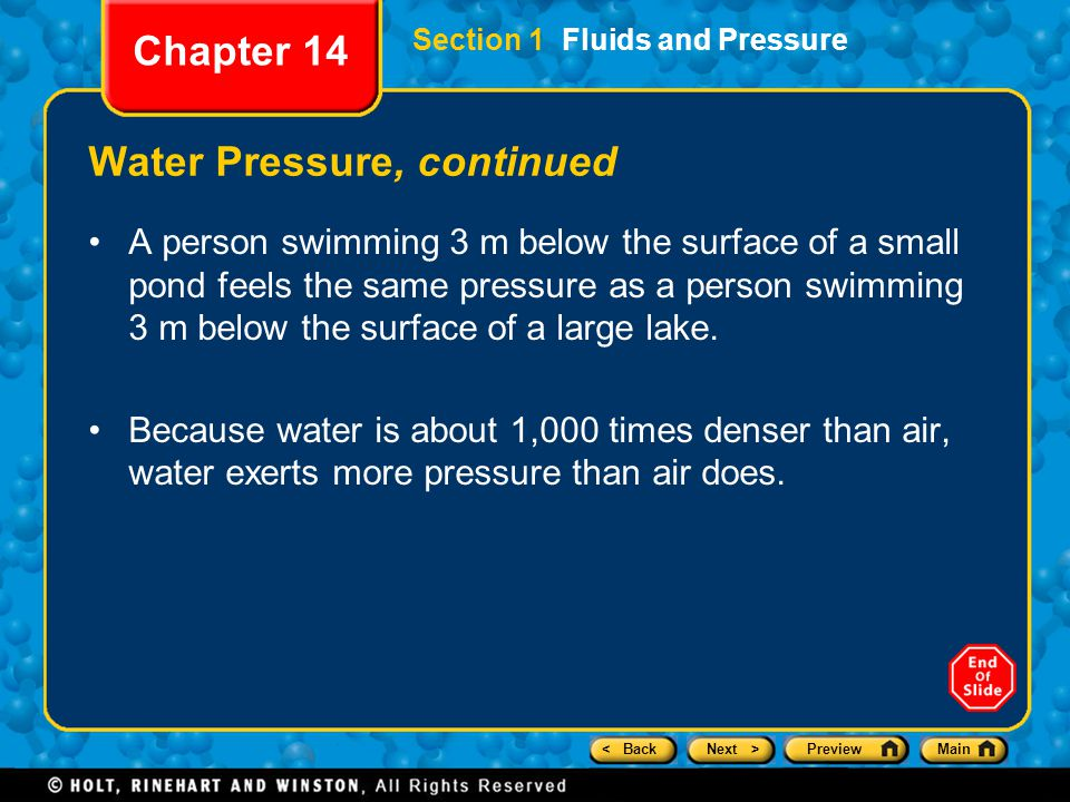 Water Pressure, continued