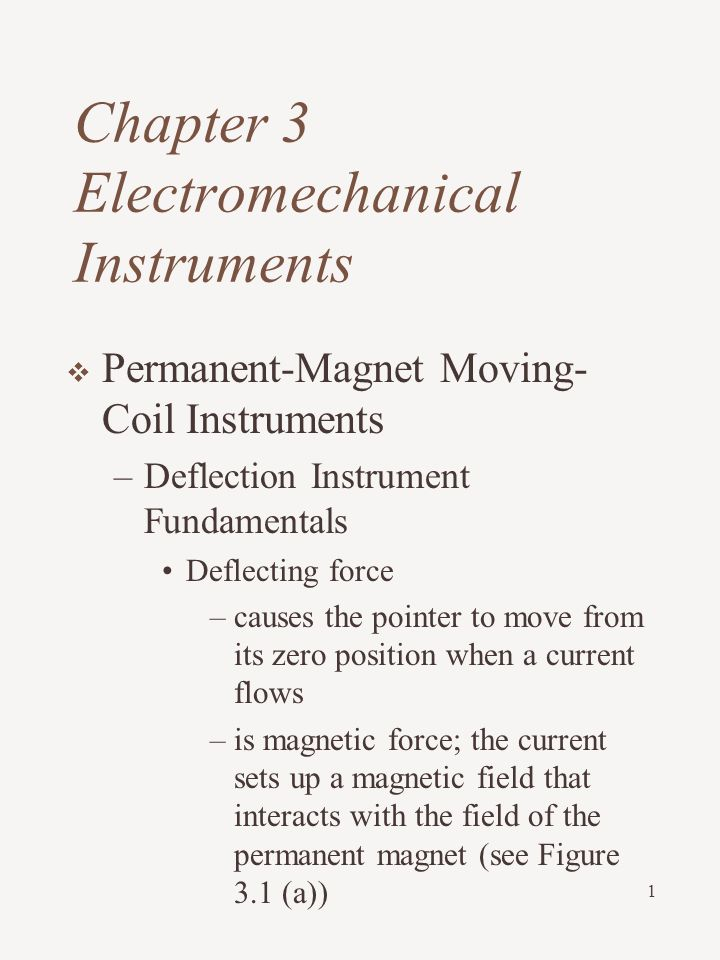 Chapter 3 Electromechanical Instruments