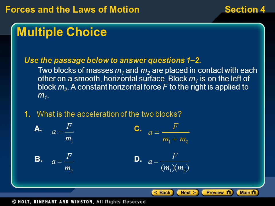 Multiple Choice Use the passage below to answer questions 1–2.
