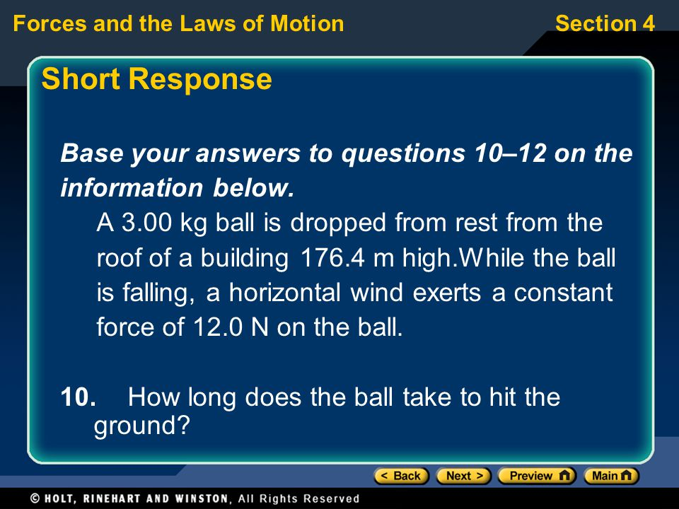 Short Response Base your answers to questions 10–12 on the