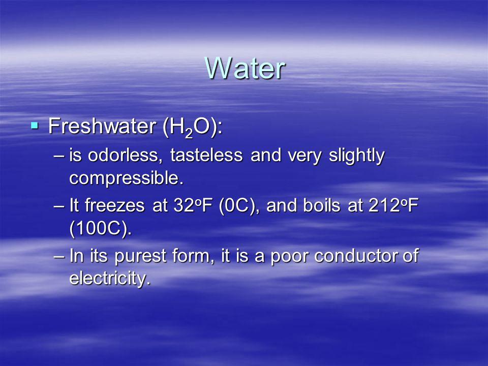 Water Freshwater (H2O):