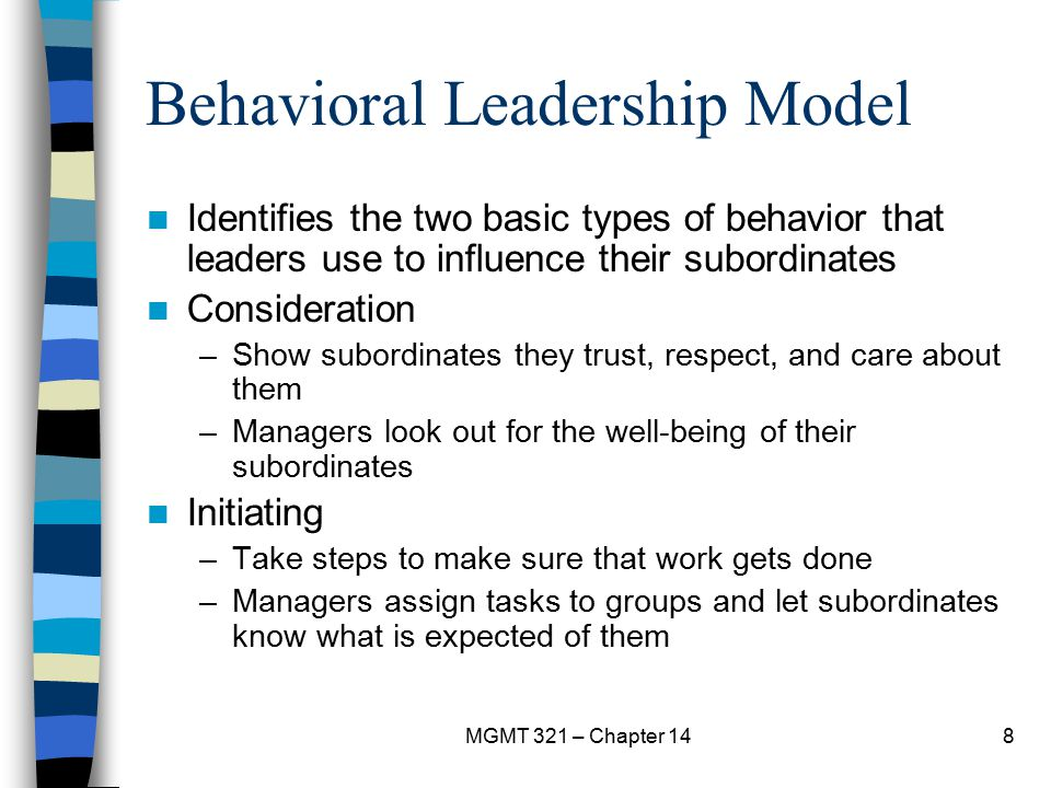 Behavioral Leadership Model