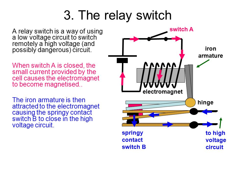 3. The relay switch switch A.
