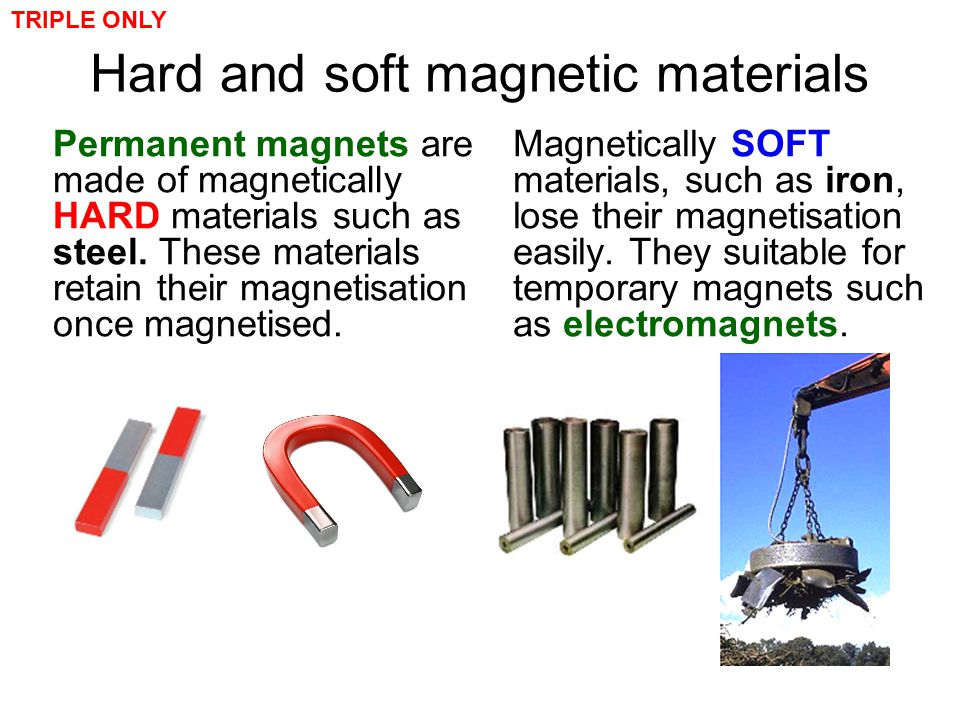 Hard and soft magnetic materials