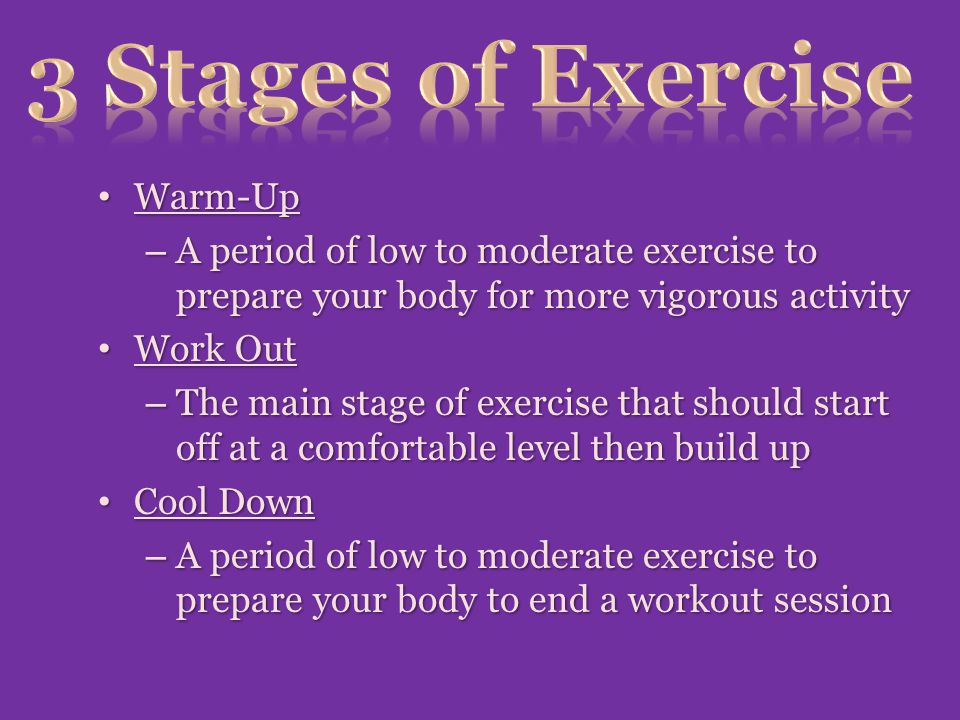 3 Stages of Exercise Warm-Up