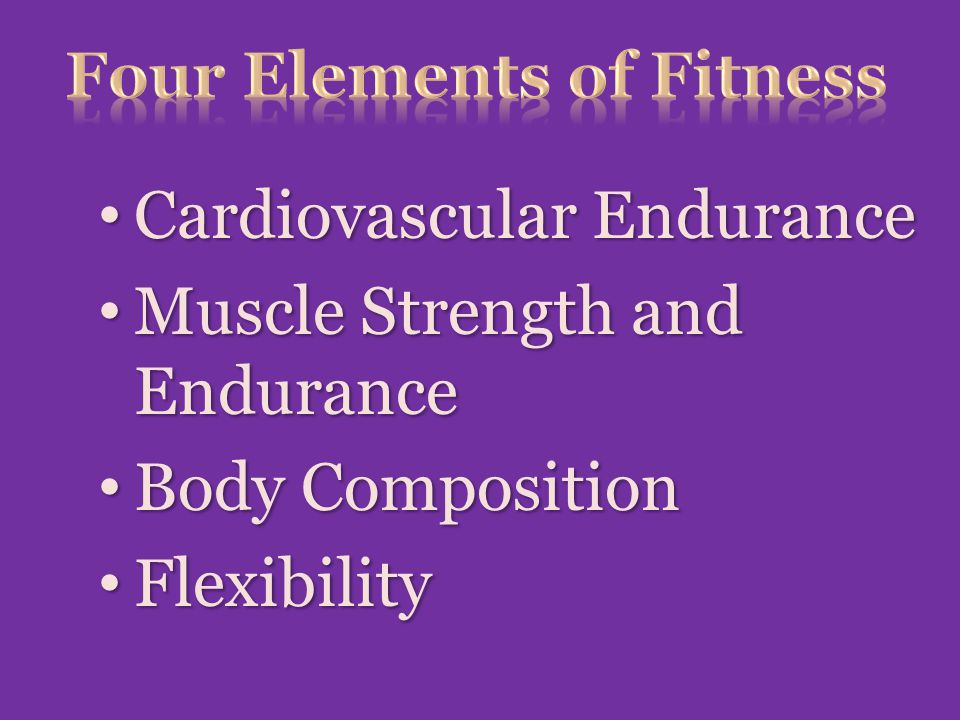 Four Elements of Fitness