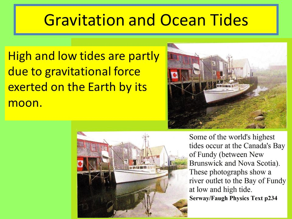 Gravitation and Ocean Tides