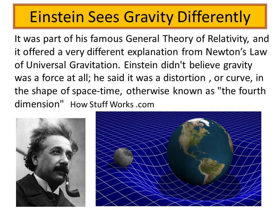 Einstein Sees Gravity Differently