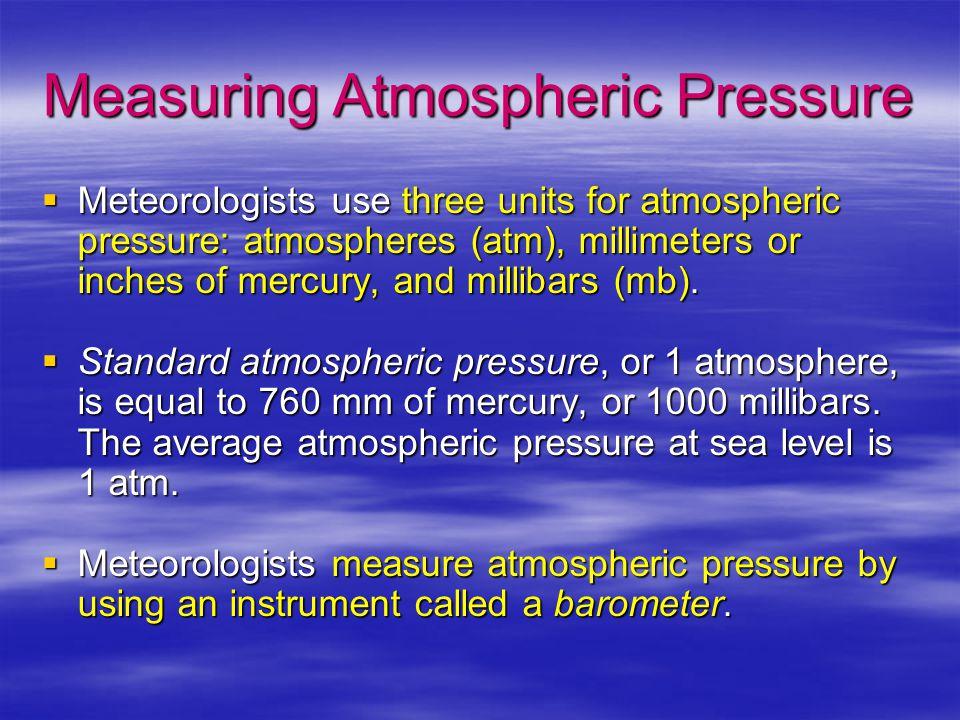 Measuring Atmospheric Pressure