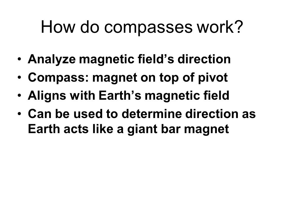 How do compasses work Analyze magnetic field's direction