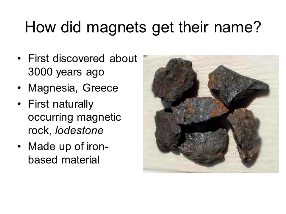 How did magnets get their name