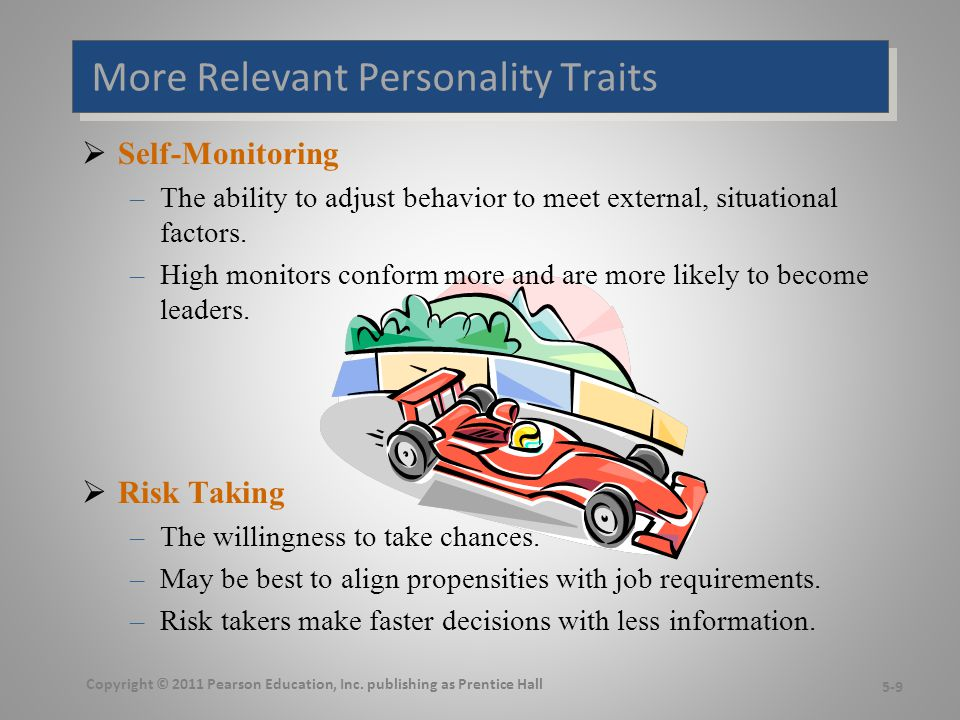 Even More Relevant Personality Traits