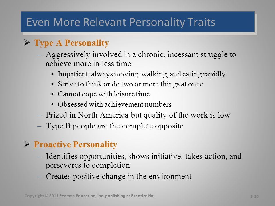 Relationships Among Personality Types