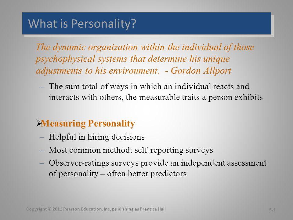Personality Determinants