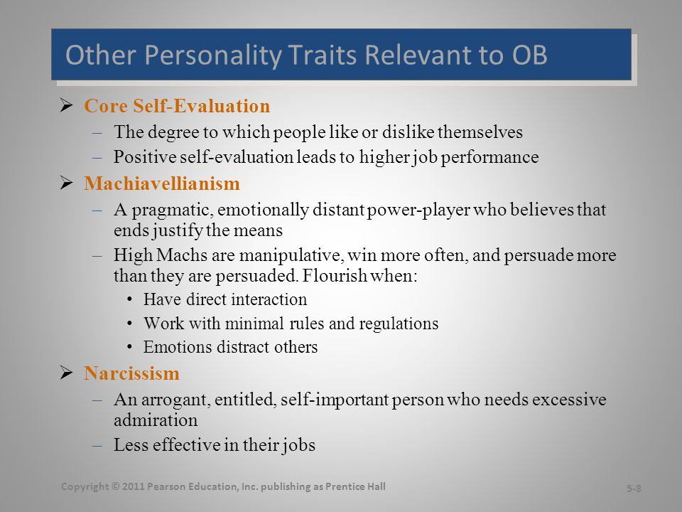 More Relevant Personality Traits