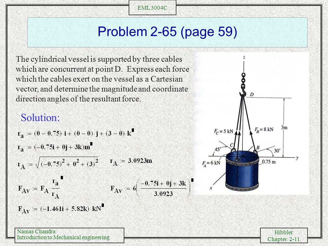 Problem 2-65 (page 59) Solution: