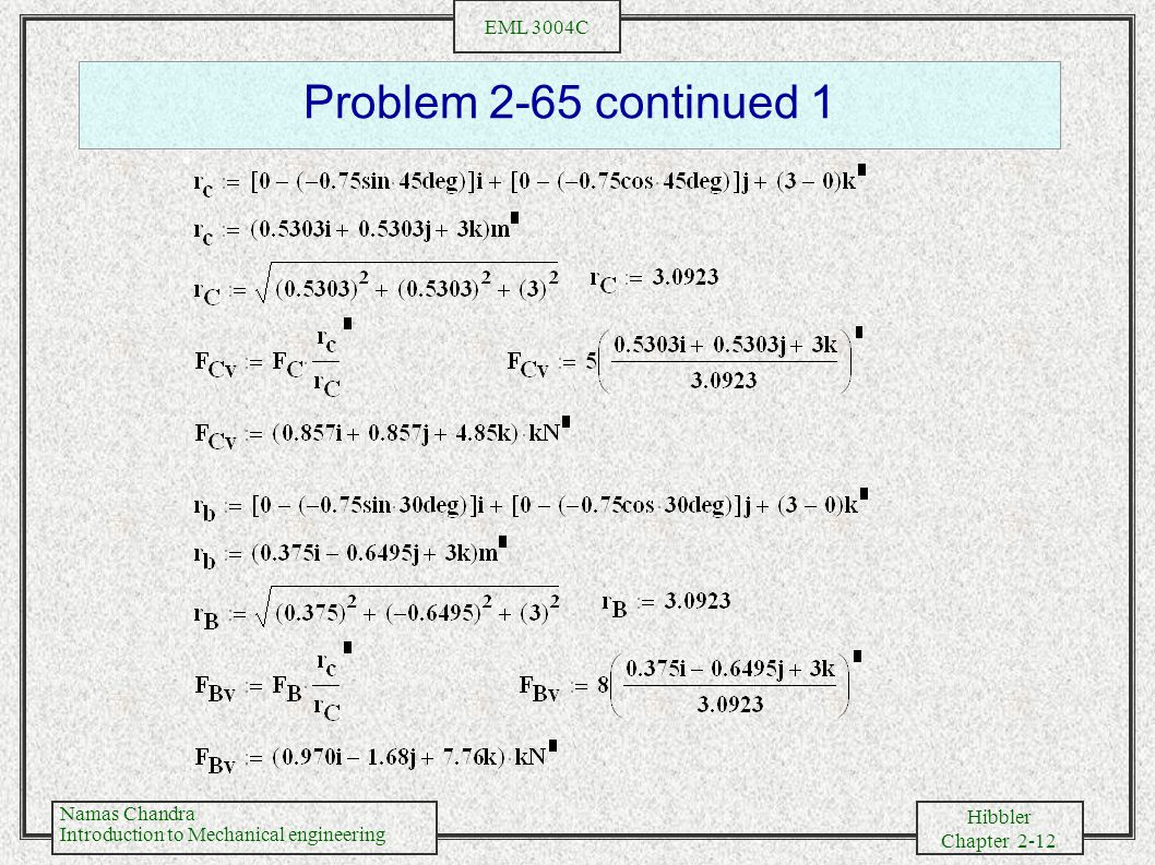 Problem 2-65 continued 1