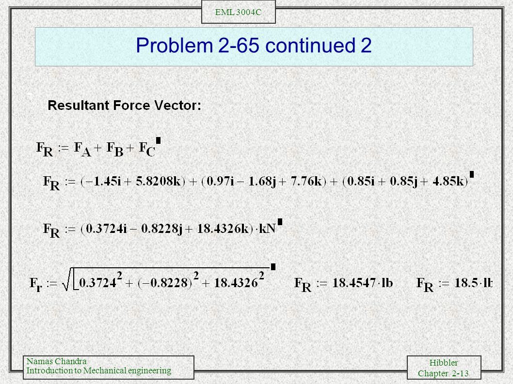 Problem 2-65 continued 2