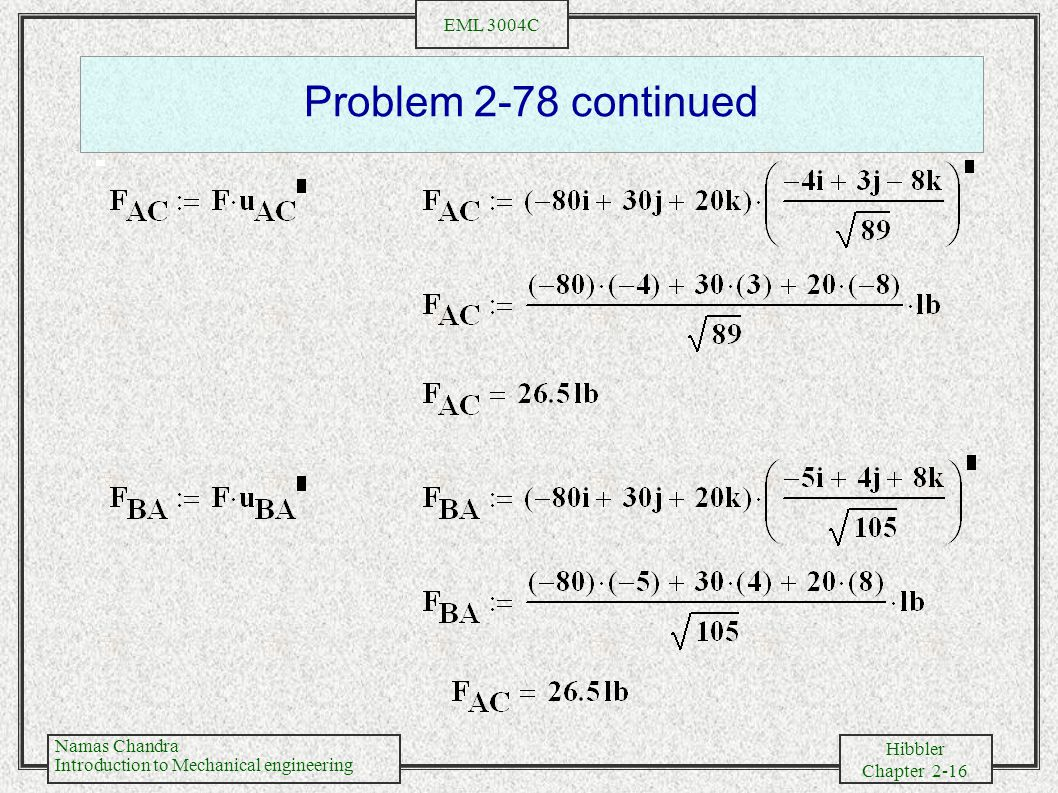 Problem 2-78 continued
