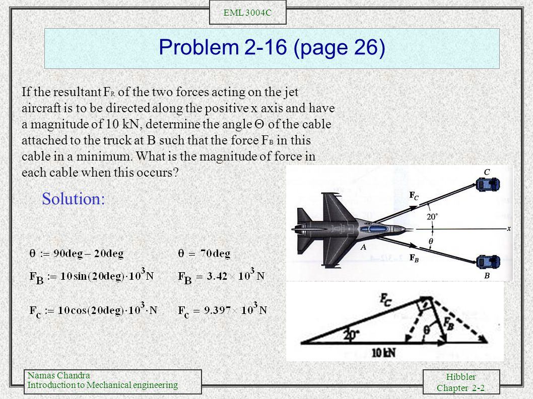 Problem 2-16 (page 26) Solution: