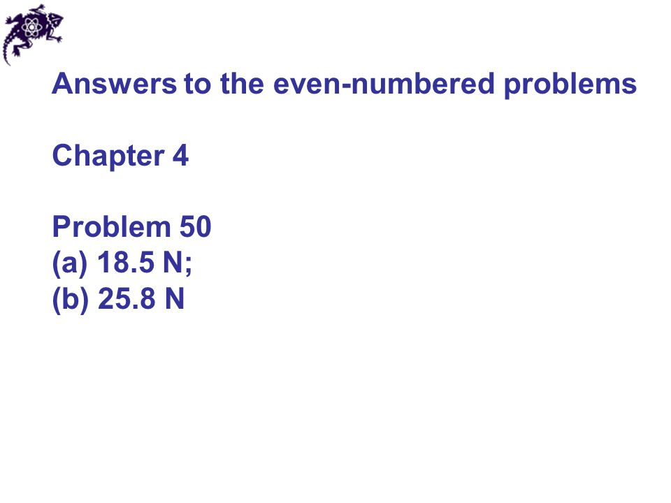 Answers to the even-numbered problems