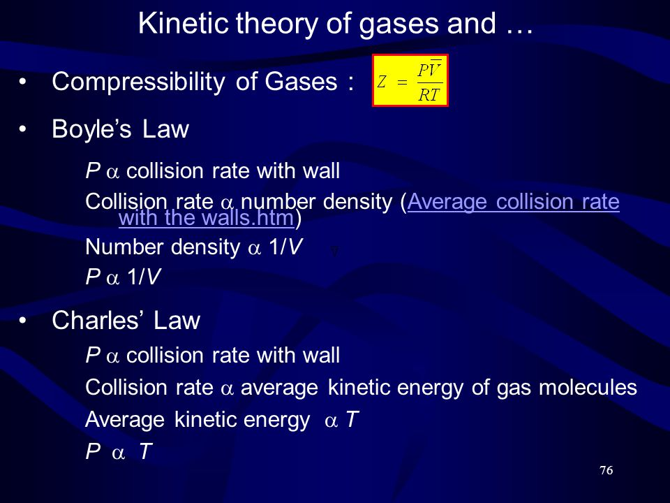Kinetic theory of gases and …