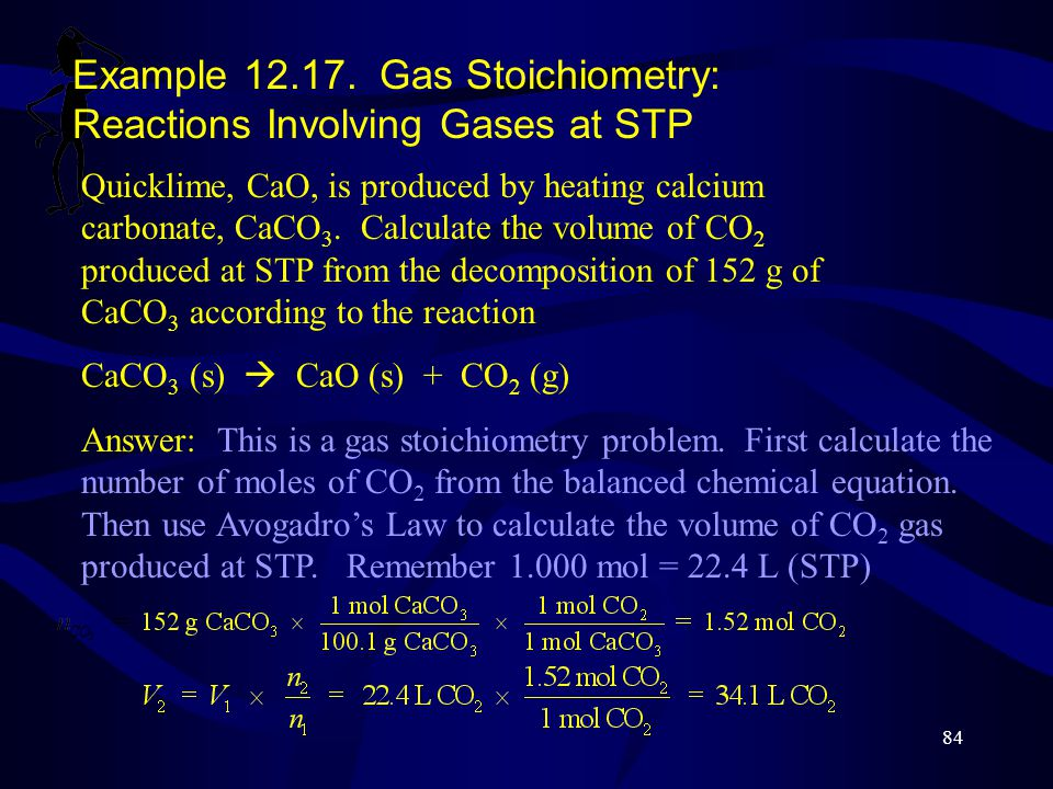 Example 12.17. Gas Stoichiometry: Reactions Involving Gases at STP