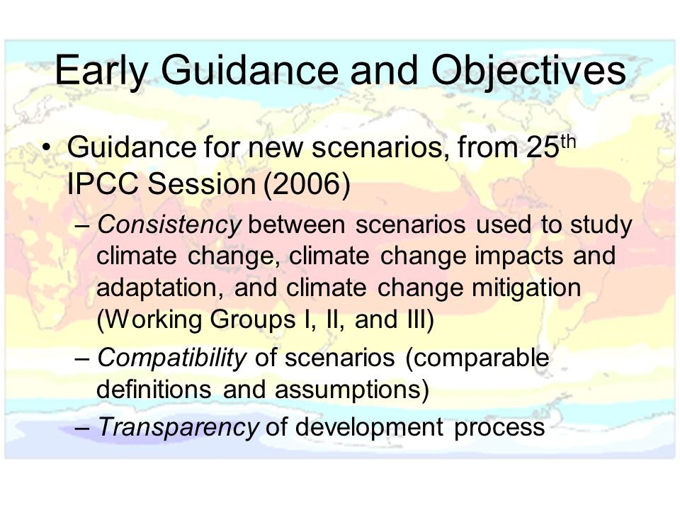 Early Guidance and Objectives